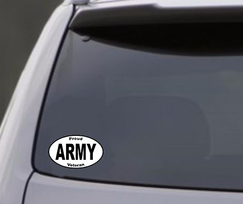 Army Decal - Proud ARMY VETERAN Army Vinyl Sticker - Army Bumper Sticker - Veteran Decal - Army Sticker - Perfect Army Veteran Gift - Made in the USA