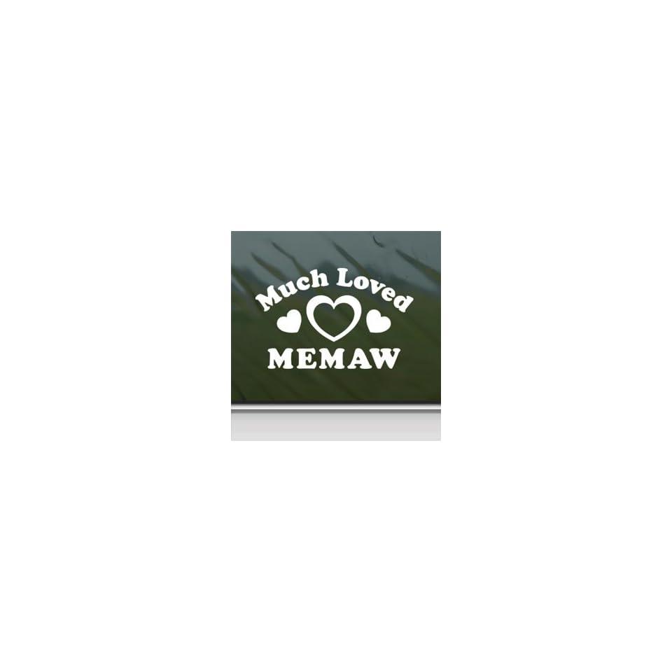 Much Loved Memaw White Sticker Car Vinyl Window Laptop