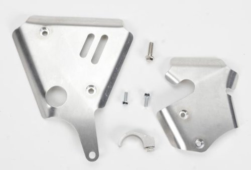Works Connection Frame Guards for Yamaha YZ125 YZ250 00-01 (Connection Aluminum Frame Guards Works)