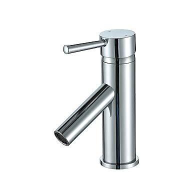Mangeoo Bathroom Sink Faucet - Widespread Chrome Centerset Single Handle One Holebath Taps Cupc UPC