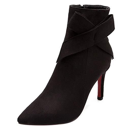 Bout Pointu Classique Coolcept Noir Boots Chelsea 95 Femmes qaEPPO