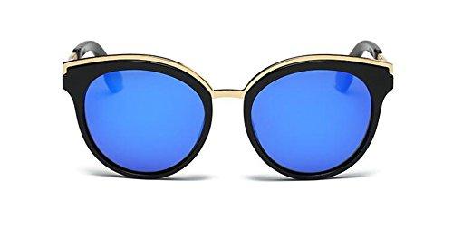 Cercle Inspirées Métallique en Polarisées Soleil de Bleu et Glacier Retro Lunettes Steampunk Pour Style Femmes Rond du Hommes CzqUyftfw
