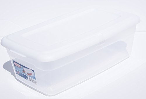 ONE Sterilite 6-Quart Storage Bin Shoe Box - Clear and - Container Rectangular Plastic