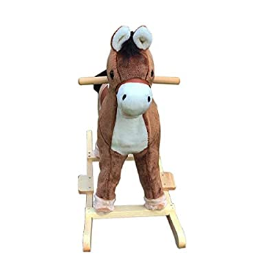 Fengsmart Rocking Horse with Sound, Plush Rocking Toy, Ride on Toy/Toddler Ride on Toys: Toys & Games