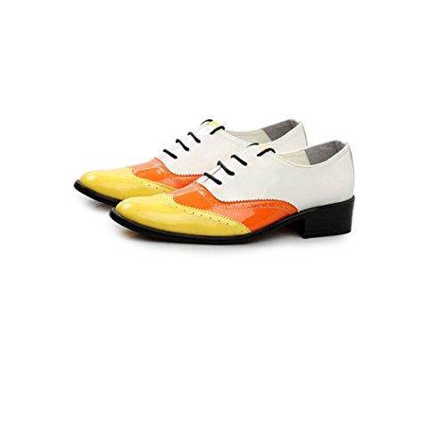 Casual Cuir Automne Bande Été Arrondi Yellow Hiver Pointu Hommes zmlsc Business Doux Printemps Chaussures Couleur Sports tP8txTd