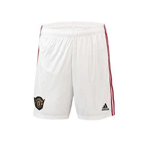 - Manchester United FC Official Soccer Gift Mens Home Kit Shorts Small White