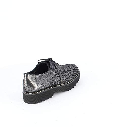 De Pons 7369k01 Quintana Mujer Zapatos Gris Cuero Cordones zTqSfgPT