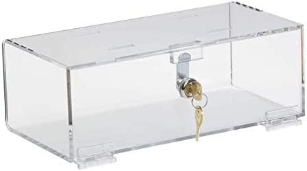 Smash Resistant Acrylic Refrigerator Narcotic Lock Box (4.25