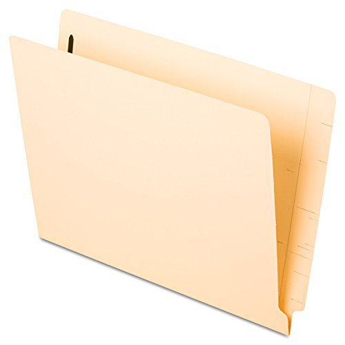 Pendaflex Manila Reinforced End-Tab Fastener Folders, Letter Size, Manila, Straight Cut, 50/BX - Cut Straight End Pendaflex