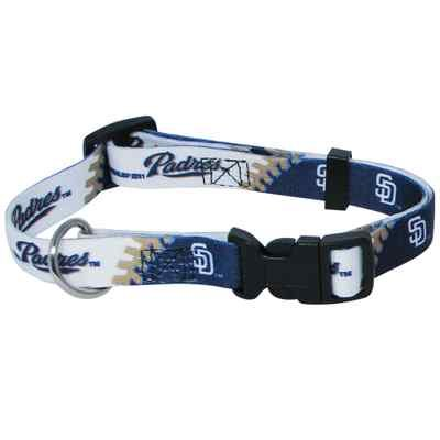 San Diego Padres Pet Dog Adjustable Collar All Sizes (Large)