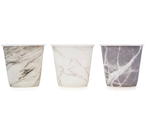 3 Snack Cups (Prince & Spring Paper Bathroom Cups, Multicolor Marble Variety 3 oz x 600)