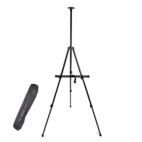 Dulcii Display Easel Stand, Portable Iron Metal Triangular Artist Easel Tripod Adjustable Display Stand for Poster Displaying Drawing and Paint, with Storage Bag by Dulcii