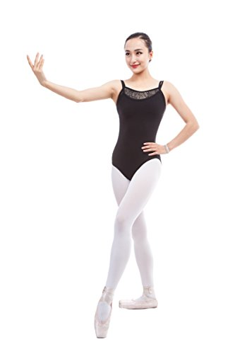 - Cpdance(TM) Women's Double-Strap Lace Camisole Leotard,N001 (S)