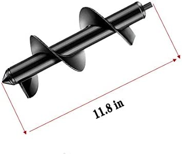 """Auger Drill Bit Garden Plant Tool Flower Bulb Auger Spiral Hole Drill Rapid Planter Earth Auger Bit Post or Umbrella Hole Digger for 3/8"""" Hex Drive Drill (3.2in x 11.8in)"""