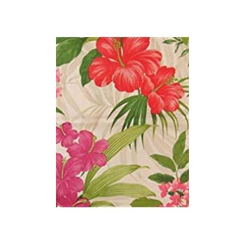 Amazon red and redpurple hibiscus and tropical pink flowers red and redpurple hibiscus and tropical pink flowers with zipper umbrella hole vinyl flannel mightylinksfo