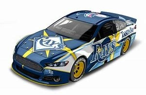 Tampa Bay Rays Major League Baseball Hardtop Diecast Car, 1:64 Scale