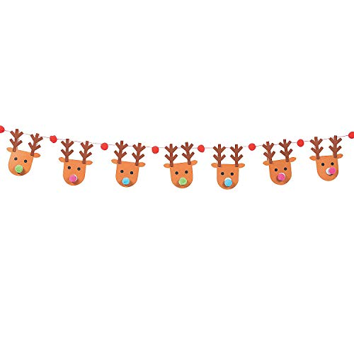 (Reindeer Clothespin Garland Craft)