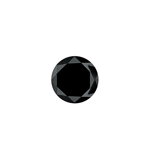 2.52 Cts 7.63×7.57×6.05 mm AA Round Brilliant ( 1 pc ) Loose Black Diamond {DIAMOND APPRAISAL INCLUDED}