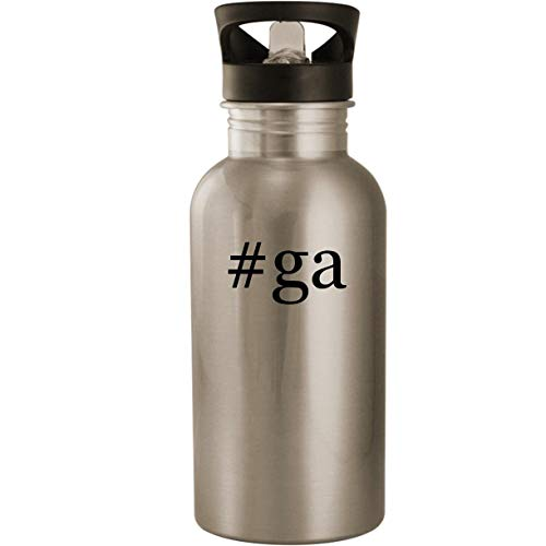 #ga – Stainless Steel Hashtag 20oz Road Ready Water Bottle, Silver