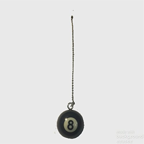 Black Billiard 8 Ball Fan / Light Pull Chain Sporting
