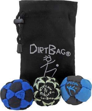 Dirtbag Medley Footbag Hacky Sack 3 Pack - Blue/Black by Dirtbag