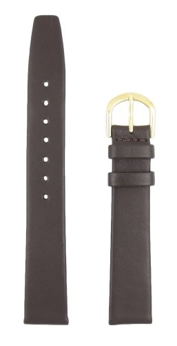 Band Mm 10 Watch (10mm Brown Flat Calf Classic Glove Leather Replacement Watchband)