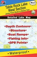 Table Rock Lake West Section Fishing Map (Fishing Hot Spots Map)