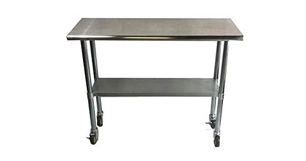 Amazon.com: Mesa de trabajo Alimentos Prep 30 x 48 con ...