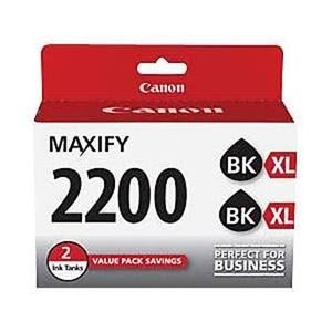 Canon PGI-2200XL Black Twin Ink Pack, Compatible to MB5420,MB5320, MG5120,MB5020,iB4120 and iB4020
