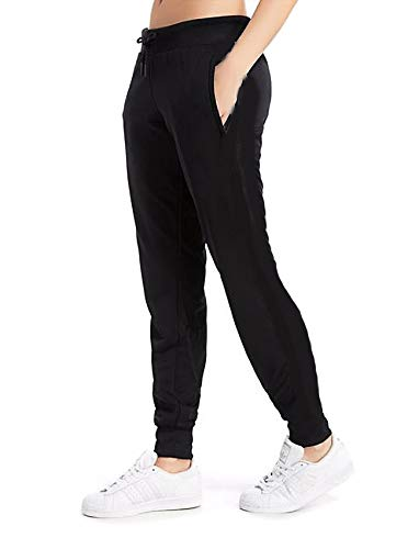 - Women's Cuffed Jogger Pants Drawstring Side Stripe Active Workout Yoga Sweatpants Legging with Pockets S