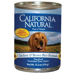 California Natural Chicken & Brown Rice Canned Dog Food (13 oz (12 in case))