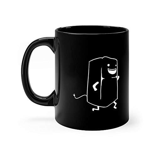 Refrigerator Running Mug 11 Oz Black Funny Design Cup Gift Ideas For Tea Coffee Lover