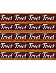 Treet Carbon Steel Double Edge Razor Blades, 200 blades (20x10)