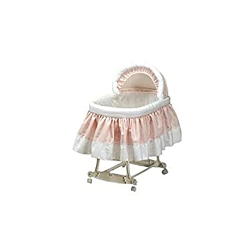 Babydoll Pretty Pique Bassinet Liner and Hood, Pink, 16'x32'