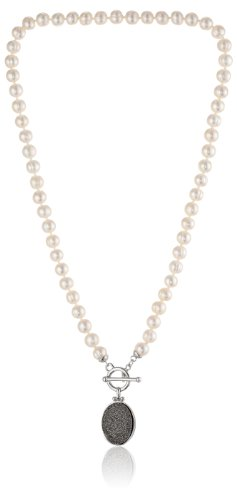 White Cultured Freshwater Pearl Toggle (Honora