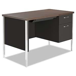 Amazon Com Alesd4524bw Single Pedestal Steel Desk