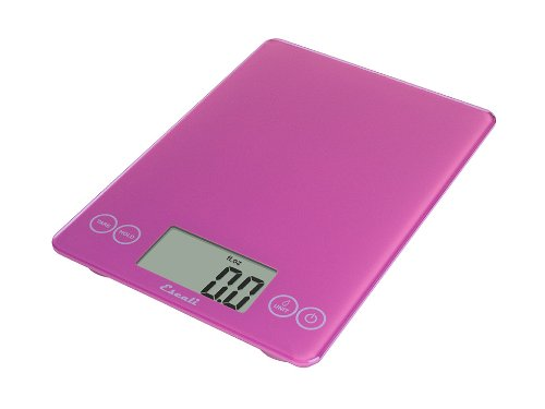 Escali Arti 157PP Precision Glass Surface Kitchen, Herb, Nutrition, Calorie Counting Scale, Digital LCD Display, 15lb Capacity, Poppin' Pink by Escali