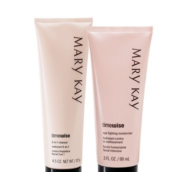 Mary Kay Timewise Age-fighting Moisturizer & 3 in 1 Cleanser Normal to Dry Skin Full Size Set from Mary Kay