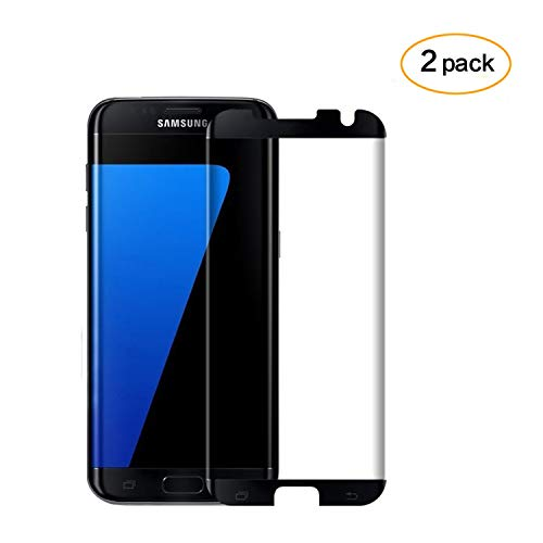 [2 PACK] Galaxy S7 Edge Screen Protector,Galaxy S7 Edge Tempered Glass,DeFitch Ultra HD Clear Anti-Bubble Glass Screen Protector for Samsung Galaxy S7 Edge by DeFitch