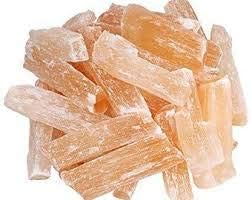 FASHIONZAADI Selenita Natural Naranja Crudo para Piedras Preciosas de Cristal, Suministros de energía de Roca Reiki curación de Alambre de Pulido