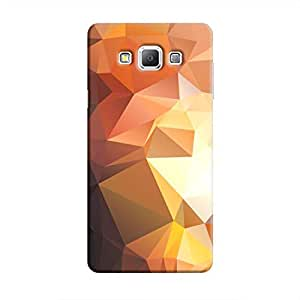 Cover It Up - Brown Gold Pixel Triangles Samsung Galaxy A5 Hard Case