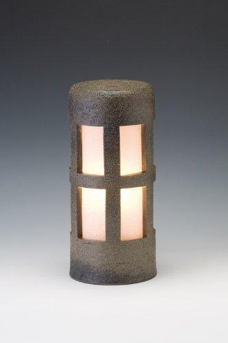 信楽焼ガーデンライト森のあかり(モスグリーン)直径12.5cm×高さ29cm(屋外用防雨型和風ライト) 日本製 B00476QZB6 19440