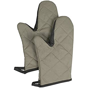 RITZ Food Service CL2PX10BETF-1Professional Grade Flame-Resistant 13-Inch Pyrotex Oven Mitt, Set of 2, Beige