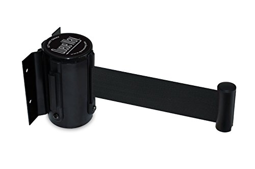 Retractable Belt - Tensator QWAYWALL-B9 QwayWall - Wall Mounted, Black Finish, Black 7'6