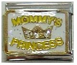 (Clearly Charming Mommy's Princess Italian Charm Bracelet Link)