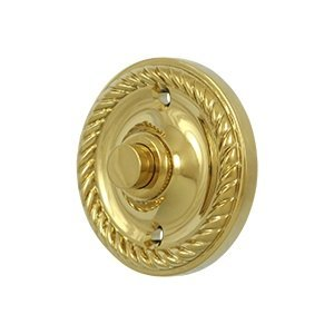 Solid Brass Round Rope Bell Button (PVD)