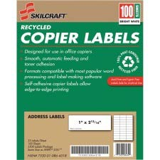 SKILCRAFT Recycled Copier Label
