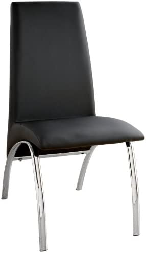 Furniture of America Iden Modern Leatherette Dining Side Chair