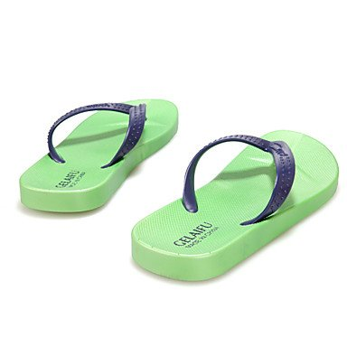 Sandalias de verano zapatos de hombre casual Zapatillas de goma azul / verde / rojo Green