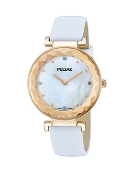 Pulsar Women's PM2084 Night Out Analog Display Japanese Quartz Pink Watch